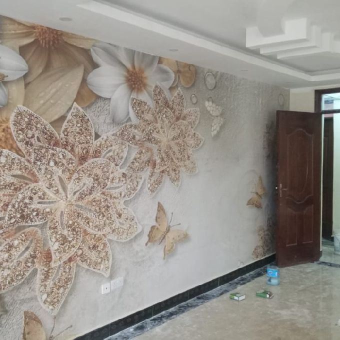 Large Wall Mural Installation Project