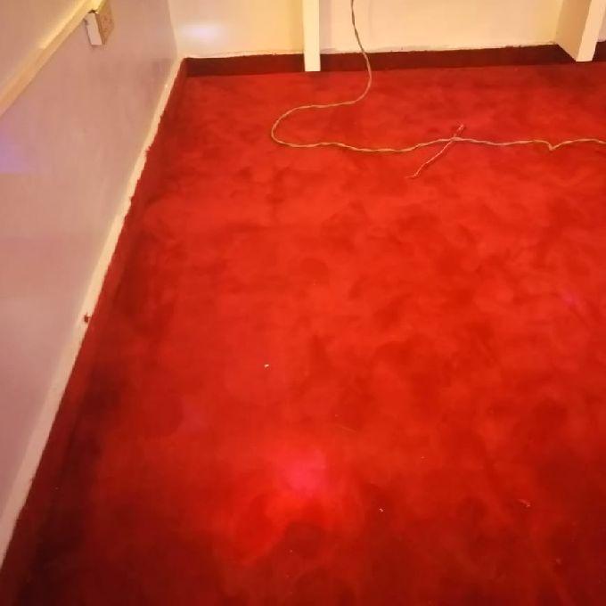 Red Carpet with Under-felt Installation