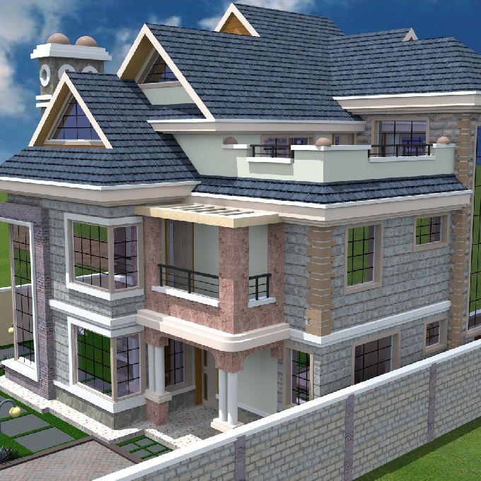 4 Bedroom Mansion Design in Nairobi