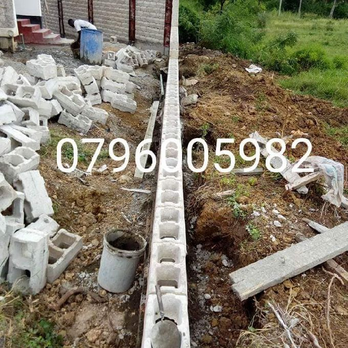 Interlocking Blocks on Perimeter Wall