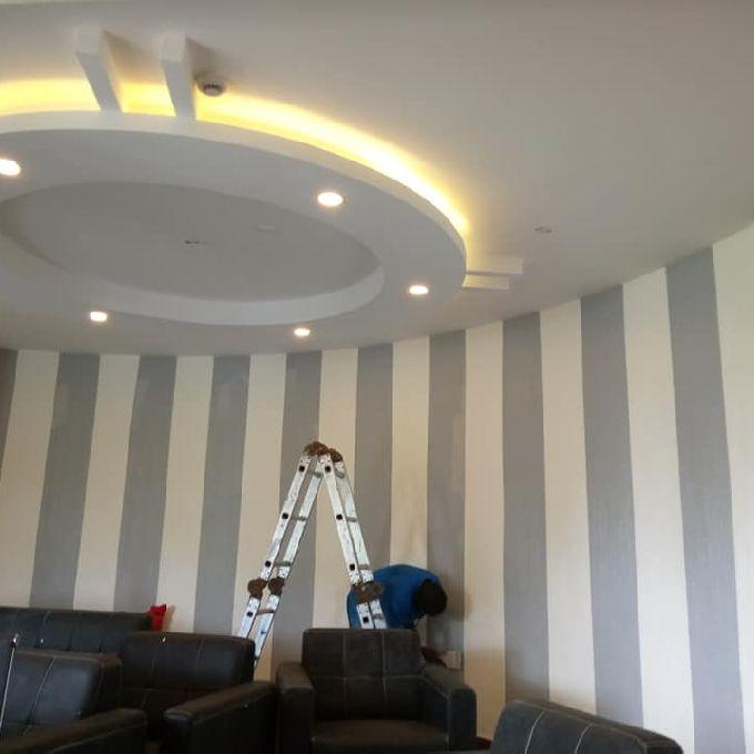 Unique Gypsum Ceiling installation in Mombasa