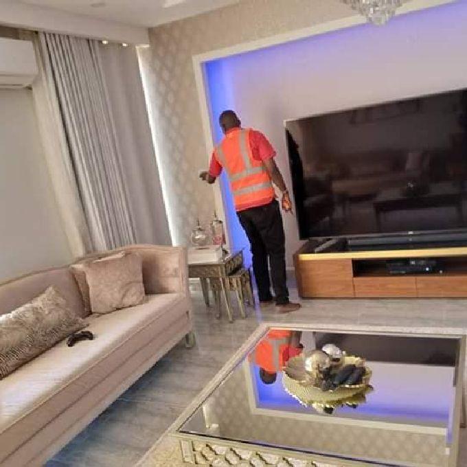 Gypsum TV Cabinet Installation