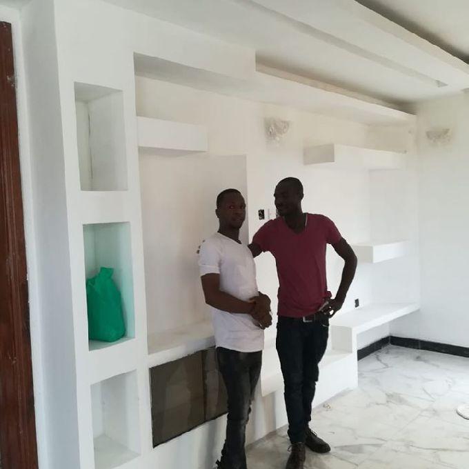 Gypsum Tv Stand Installation in Kakamega