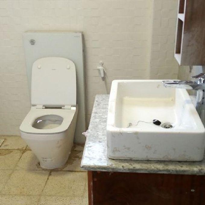 Ceramic Washroom Utilities Installation
