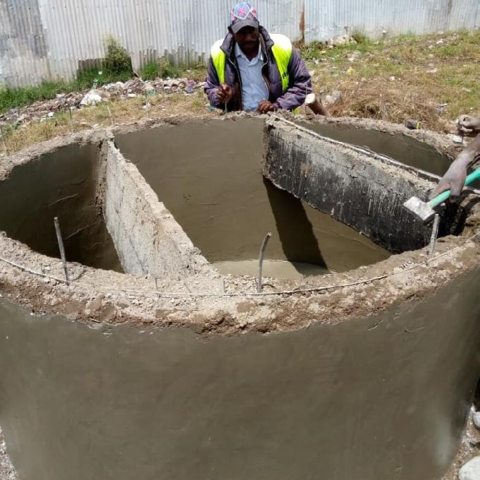 Round Septic Tank Installation for an Institution