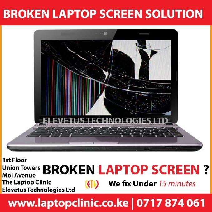 Broken Laptop Screen Repair Assistance