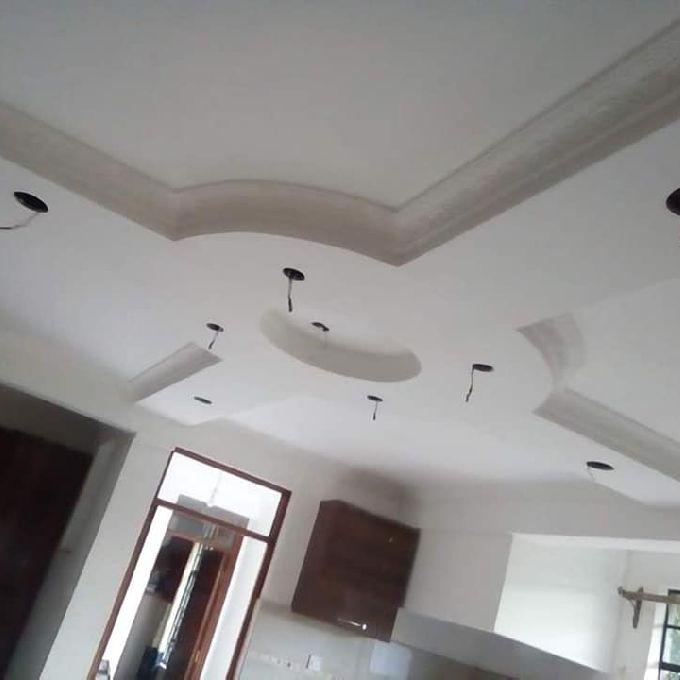 Simple Gypsum Ceiling Installation in Nanyuki