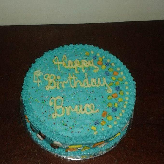 Freshly Baked Birthday Cake