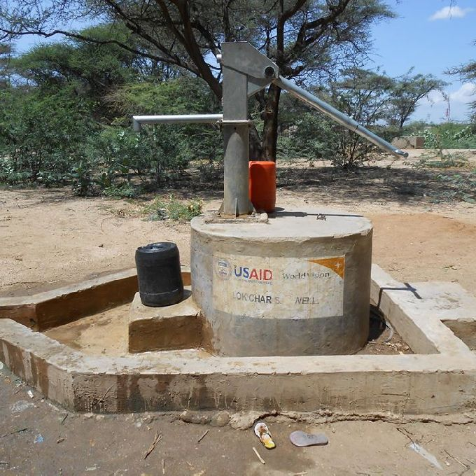 Water Trough Installation in Turkana