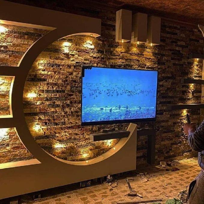 Unique Gypsum Tv Wall Unit Designs